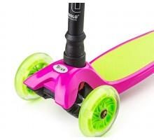 Самокат Trolo Maxi 2018 розовый (Мини) со светящимися колесами