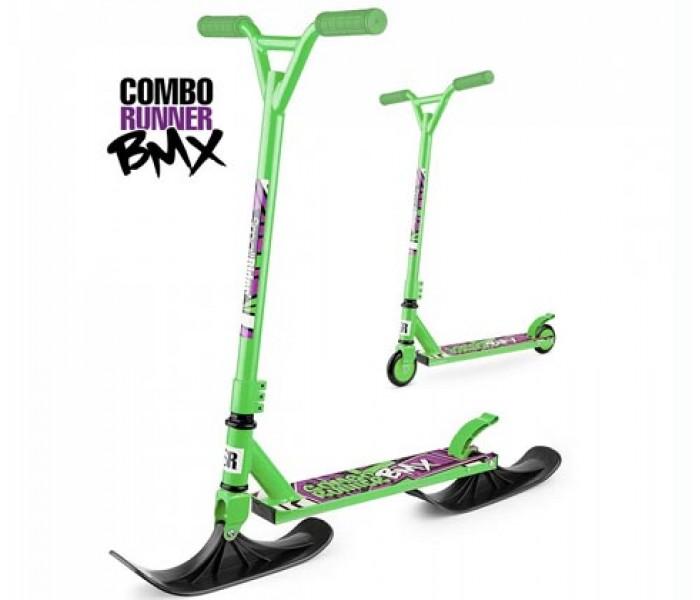 Самокат на лыжах Small Rider Combo Runner BMX (зеленый) 2 в 1 с колесами в комплекте