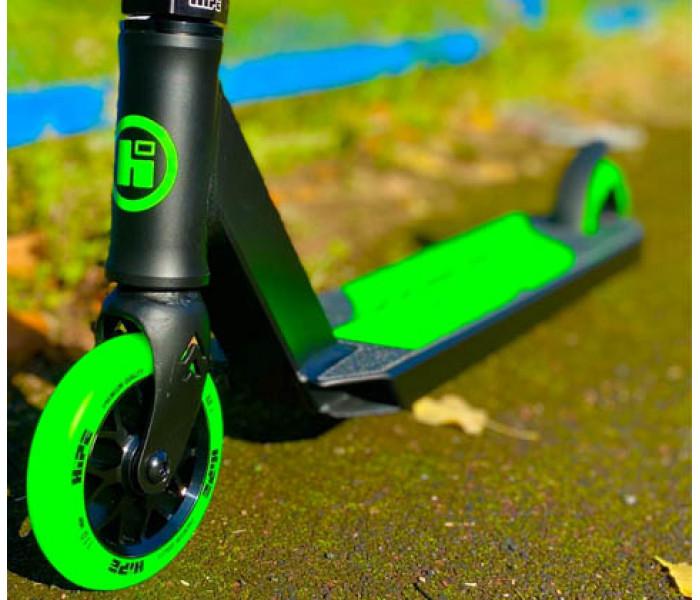 Самокат для трюков Hipe H3 Black/Green 2021