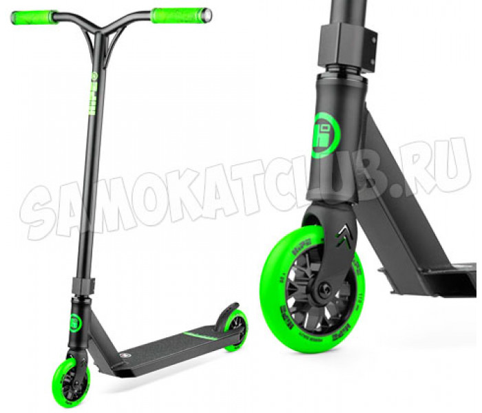 Самокат для трюков Hipe H3 Black/Green 2020 + Подарок!