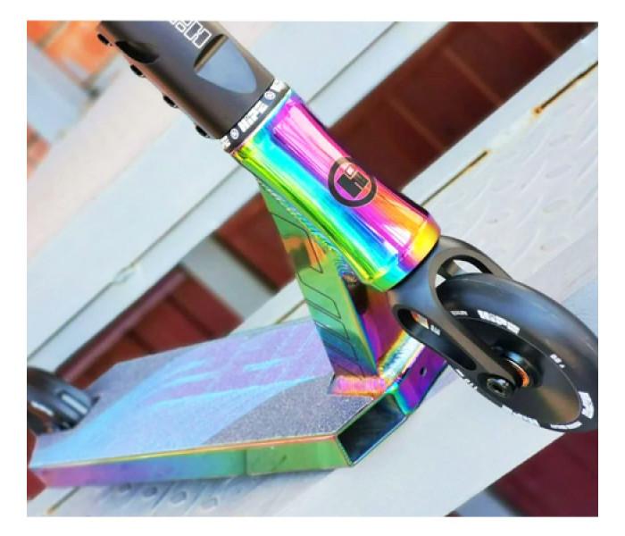 Трюковой самокат HIPE L20 Neo Chrome бензиновый