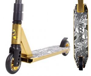 HW - Boomer GL золотой трюковой самокат