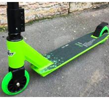 Race Spirit Stunt Green 2020 трюковой самокат для новичков