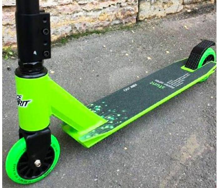 Трюковой самокат Race Spirit Stunt 2020 зеленый