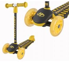 Самокат Techteam LAMBO детский со светящимися колесами(желтый)