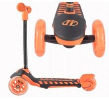 Самокат Techteam LAMBO детский со светящимися колесами (оранжевый)