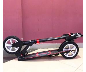 Cамокат TECH TEAM LASER black с надувными колесами