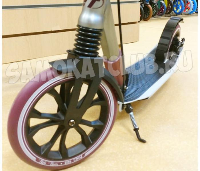 Самокат TECH TEAM TT Sport 230R для взрослых с дисковым тормозом (серый)