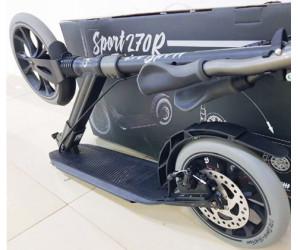 Tech Team TT Sport 270R Black самокат с ручным дисковым тормозом