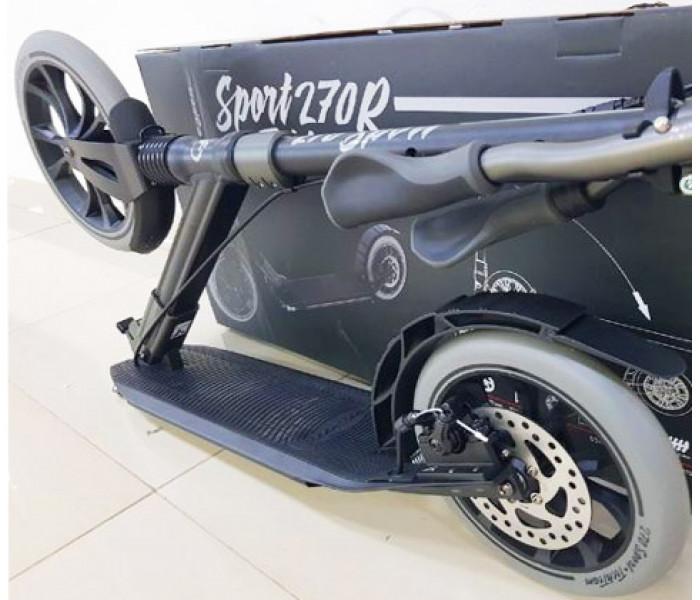 Самокат Tech Team SPORT 270R черный (2020) с амортизатором и ручным дисковым тормозом