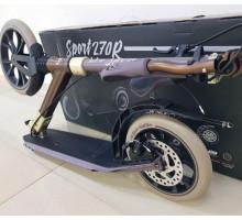 Tech Team TT Sport 270R Brown самокат с ручным дисковым тормозом