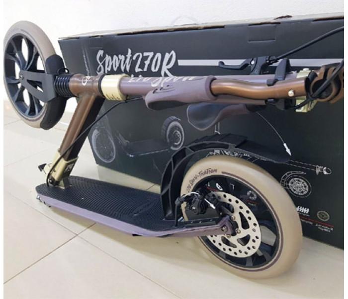 Самокат Tech Team SPORT 270R (2020) с амортизатором и ручным дисковым тормозом