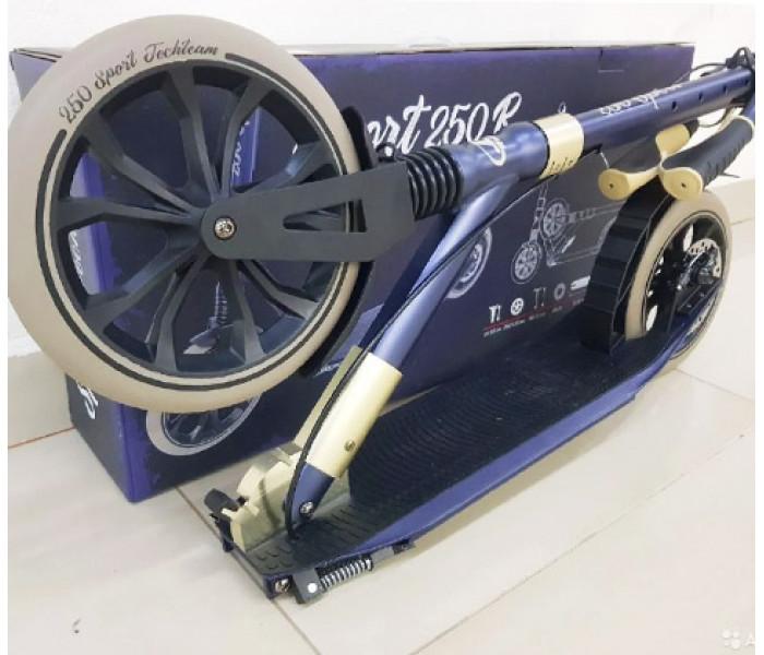 Самокат Tech Team SPORT 250R (2020) с амортизатором и ручным дисковым тормозом