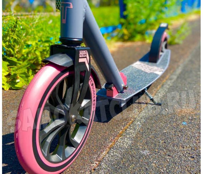 Самокат TechTeam TT JOGGER 230 Pink с большими колесами