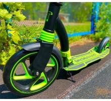 Cамокат Tech Team TT CROSSER 2021 с амортизатором (черно-зеленый)