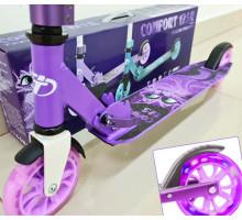 Самокат TT Comfort 125R (2021) Violet со светящимися колесами