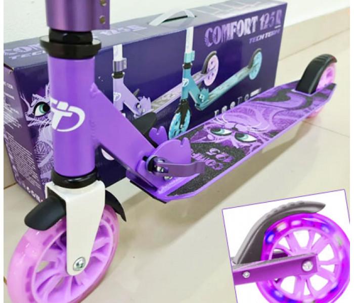 Самокат TechTeam TT Comfort 125R 2021 фиолетовый