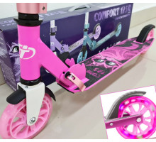 Самокат TT Comfort 125R (2021) Pink со светящимися колесами
