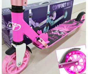 Comfort 125R (2021) Pink самокат со светящимися колесами