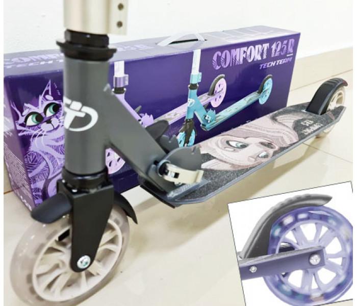 Самокат TechTeam Comfort 125R 2021 серый