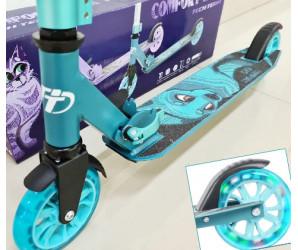 Comfort 125R (2021) Blue самокат со светящимися колесами