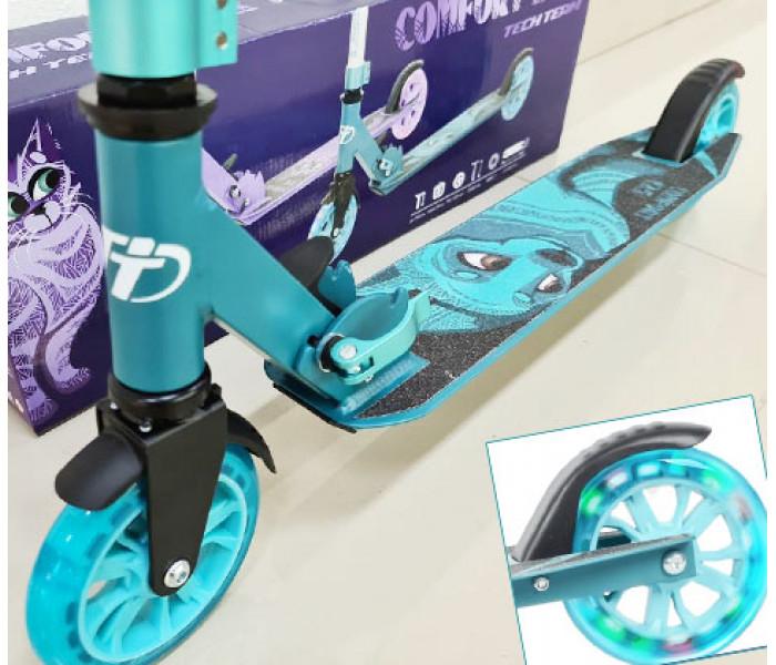Самокат TechTeam TT Comfort 125R 2021 голубой (бирюзовый)