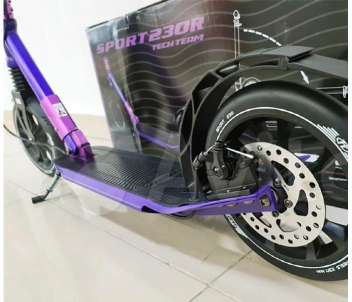 Самокат TECH TEAM TT Sport 230R Фиолетовый (2021) с дисковым тормозом