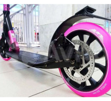 Tech Team TT Sport 210R PINK самокат с ручным дисковым тормозом