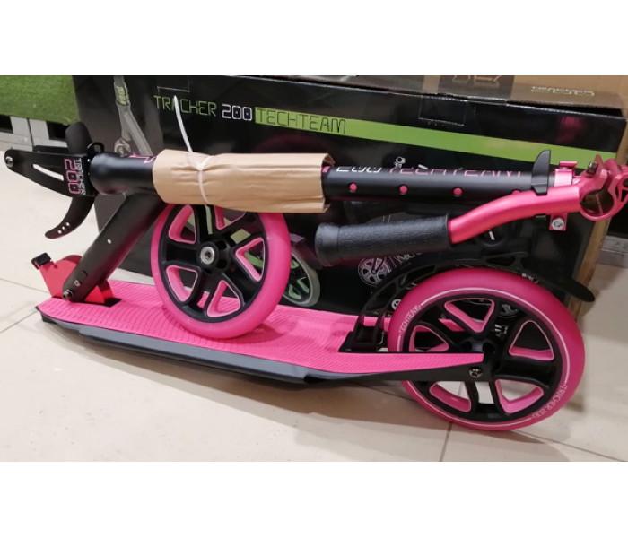 Cамокат  TechTeam 200 Tracker розовый с большими колесами