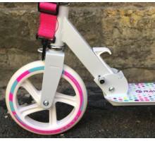 Cамокат RAVEN 2018 с большими колесами 200мм бело-розовый