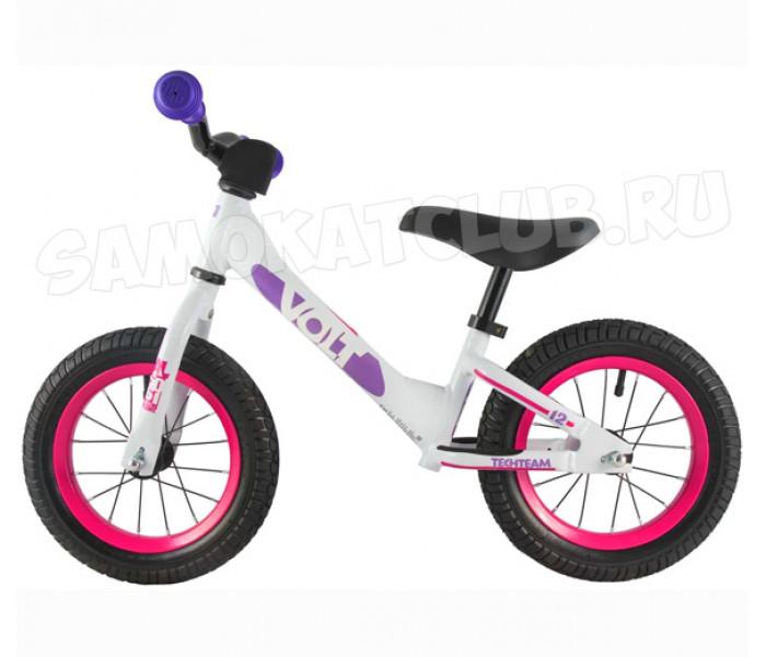 Беговел детский TT VOLT с надувными колесами (розовый)
