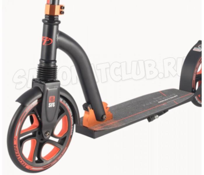 TT Downtown 2018 самокат с большими колесами для взрослых (черно-оранжевый)