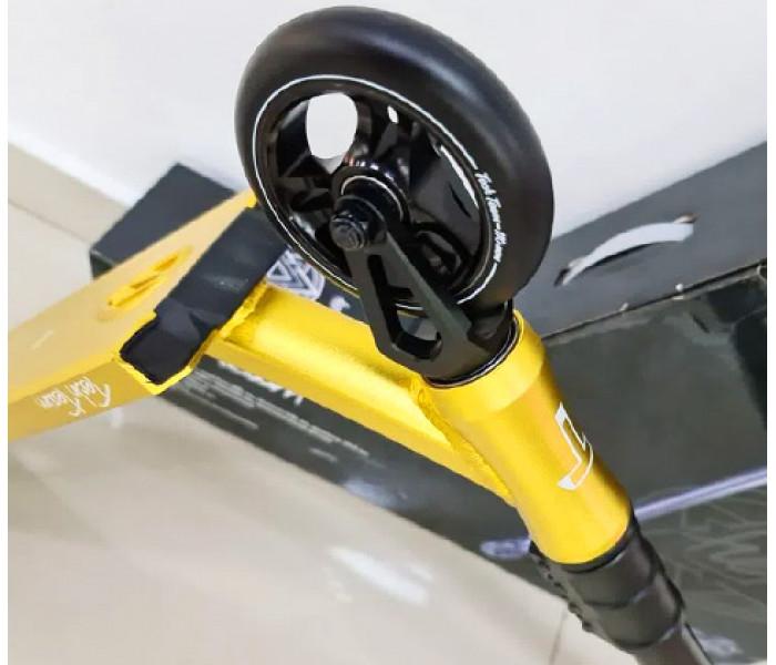 Трюковой самокат Tech Team TT HEX (2021)  золотой, черный