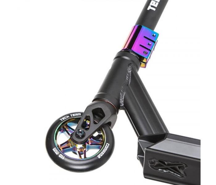 Трюковый самокат Tech Team Comrade 2021 черный-бензиновый