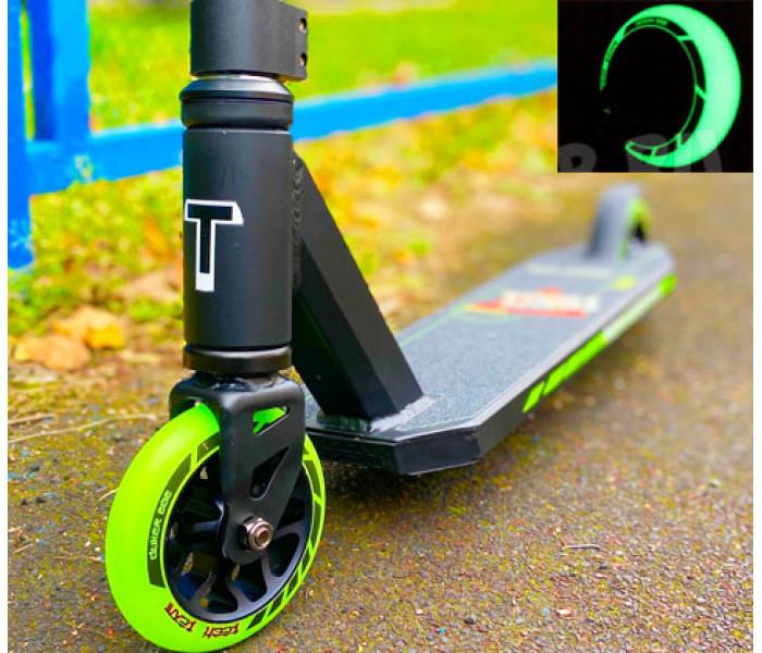 Трюковой самокат Tech Team DUKER 202 Green (2021) для начинающих