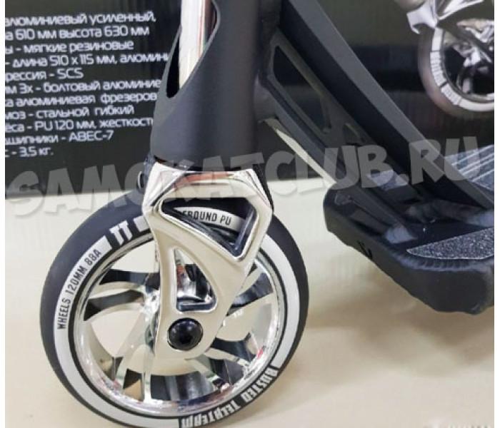 Трюковой самокат TT BUSTED Silver 2019