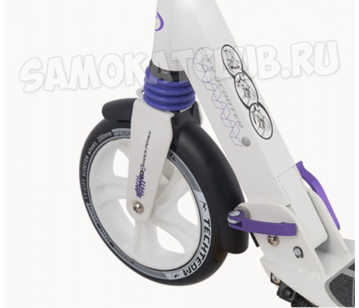 Самокат TechTeam City Scooter 2018 (белый) с большими колесами