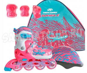 Набор роликов Tech Team TT JUNGLE SET (26-29, 30-33, 34-37) розовый