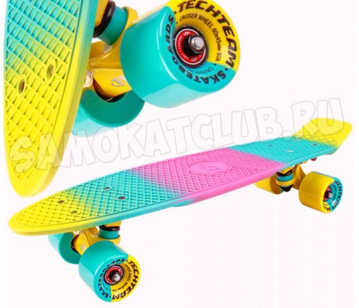 """Скейт TT MULTICOLOR 22"""" желтый"""