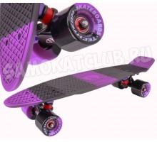 """Круизер Tech Team TT MULTICOLOR 22"""" фиолетовый. Сумка в комплекте"""