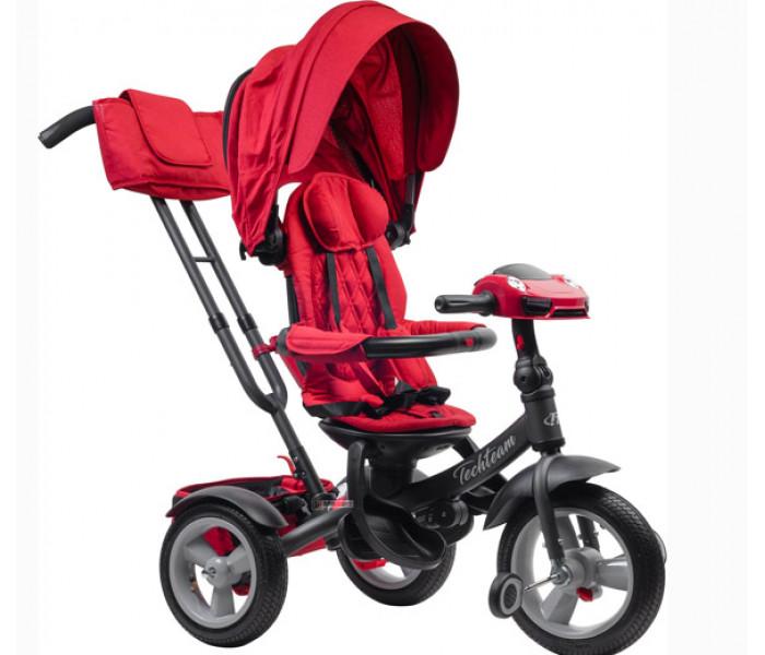TT LUXURY 2019 трехколесный велосипед-коляска с музыкой (красный)