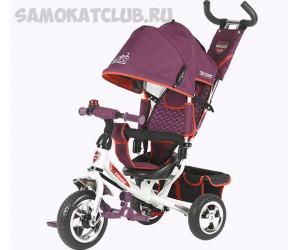 Велосипед Techteam TT 950D для детей с родительской ручкой (бордовый)