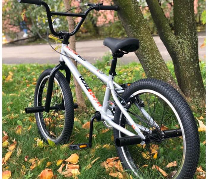 "Велосипед Tech Team TT BMX Step One 2020г серый рама 18,7""  (БМХ для детей)"