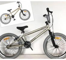 """Трюковой велосипед Tech Team BMX Goof 20"""" (серый) для начинающих"""