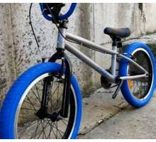 """Трюковой велосипед Tech Team BMX Goof 20"""" синий для начинающих"""