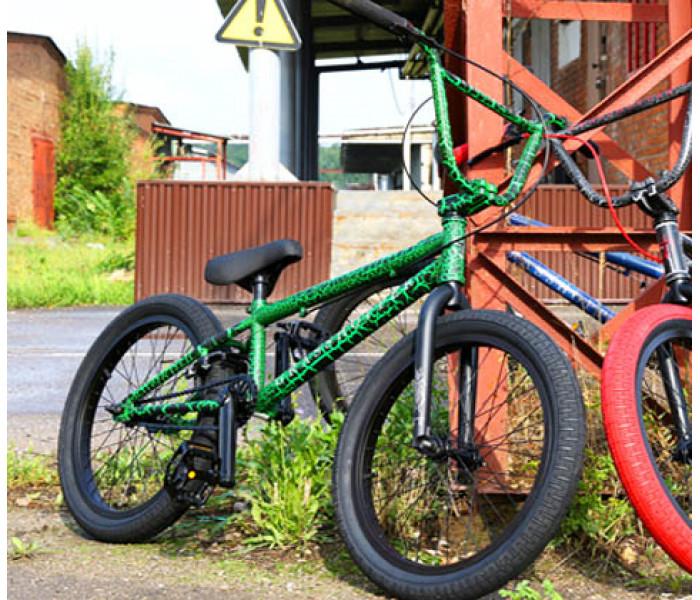 Трюковой велосипед Tech Team TT BMX Grasshopper Green 2021
