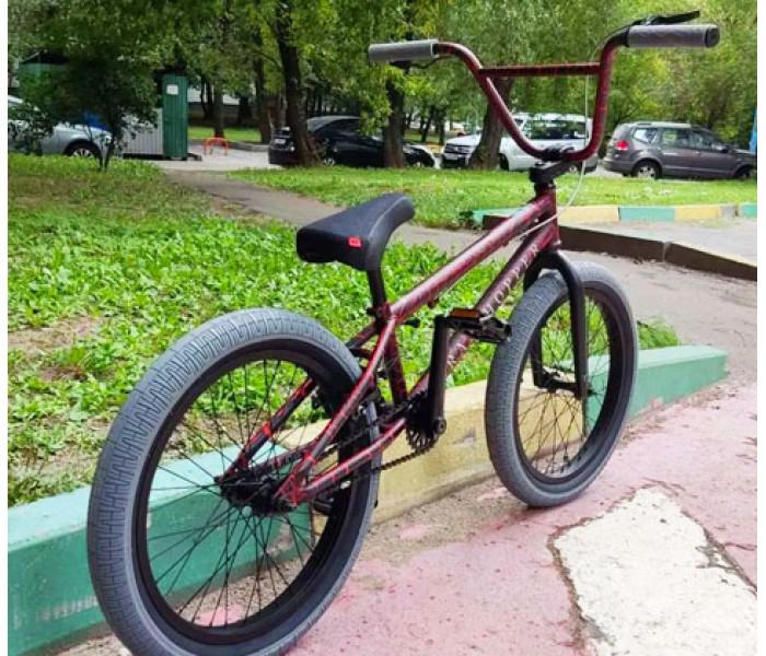 Трюковой велосипед Tech Team TT BMX Grasshopper красно-серый 2021