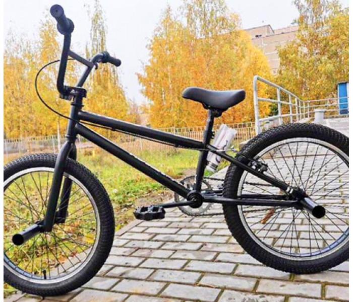 """Велосипед Tech Team TT BMX Step One 2020г черный рама 18,7""""  (БМХ для детей)"""