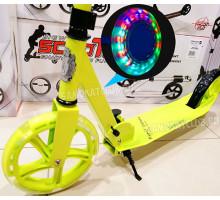 Vinca Sport Lime самокат со светящимися колесами 200мм