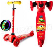 Vinca Sport Red Car детский самокат со светящимися колесами